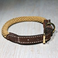 Gigi Corde ecru/chocolate halsband