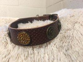 Halsband Barcelona Dogs Snaky diamond brown