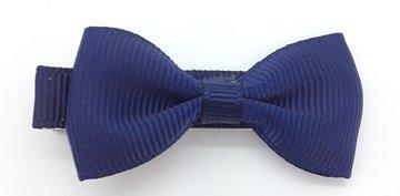 Strikje stof marine blauw